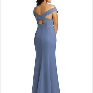 dessy dress 3012 in larkspur crepe